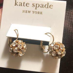 Kate Spade leverback earrings